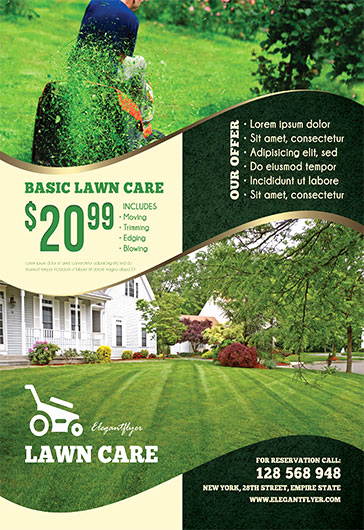Lawn Care Flyer Template Elegant Lawn Care – Free Flyer Psd Template – by Elegantflyer