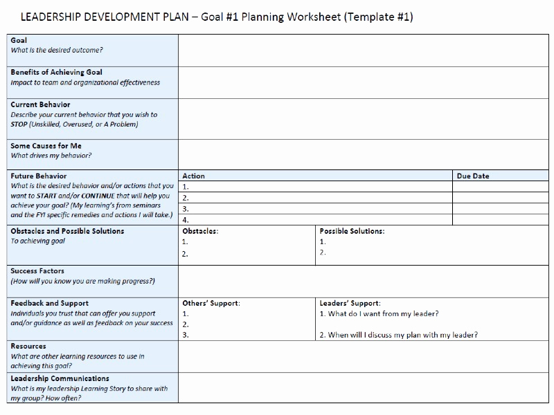 Leadership Development Plan Example Awesome Leadership Development Plan