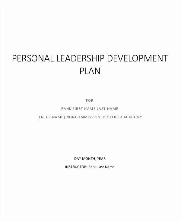 Leadership Development Plan Example Inspirational 40 Plan Samples & Templates In Pdf