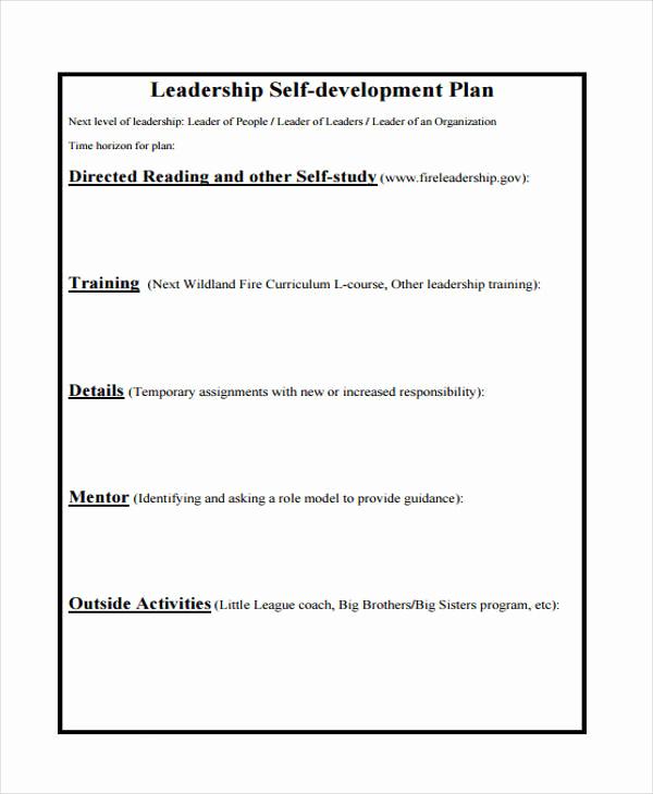 Leadership Development Plan Example Lovely 58 Development Plan Examples & Samples Pdf Word Pages