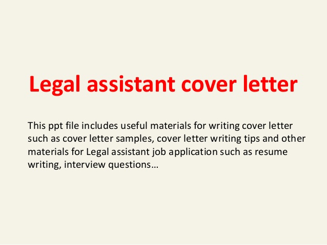 Legal Cover Letters Samples Beautiful Legal assistant Cover Letter