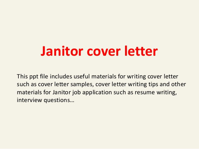 Legal Covering Letters Samples Inspirational Janitor Cover Letter
