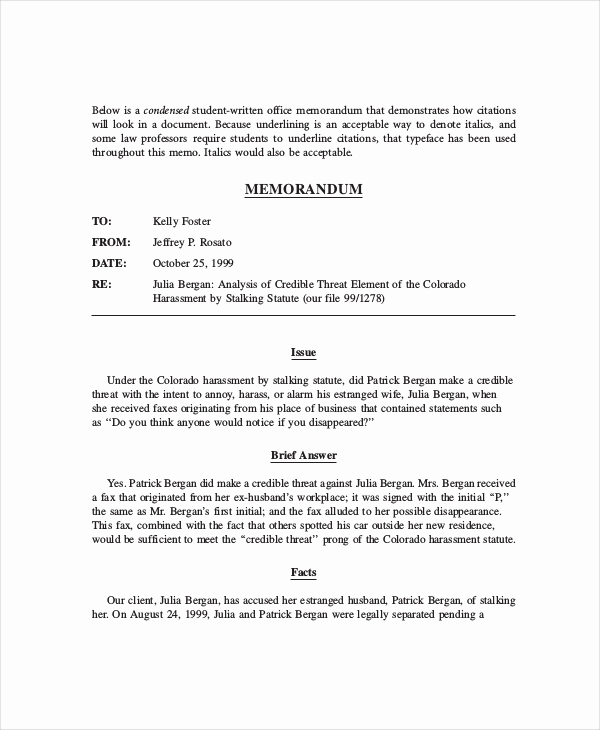 Legal Memorandum Sample Pdf Best Of 12 Legal Memo Examples Word Google Docs Apple Pages