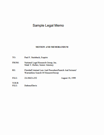 Legal Memorandum Sample Pdf Best Of Legal Memo Template Free Download Create Edit Fill and