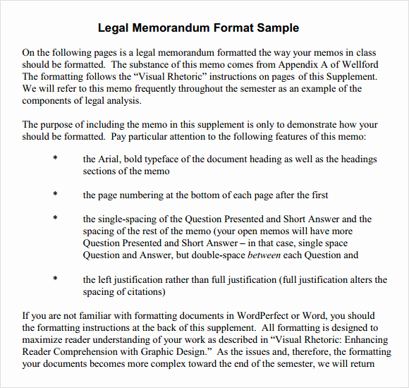 Legal Memorandum Sample Pdf Fresh Sample formal Memorandum 6 Documents In Word Pdf