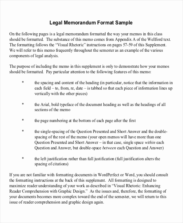Legal Memorandum Sample Pdf Lovely 15 Memorandum Samples Examples In Word Pdf