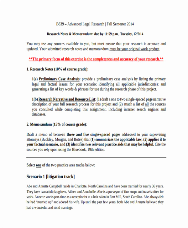 Legal Memorandum Sample Pdf Luxury 8 Research Memo Examples Samples