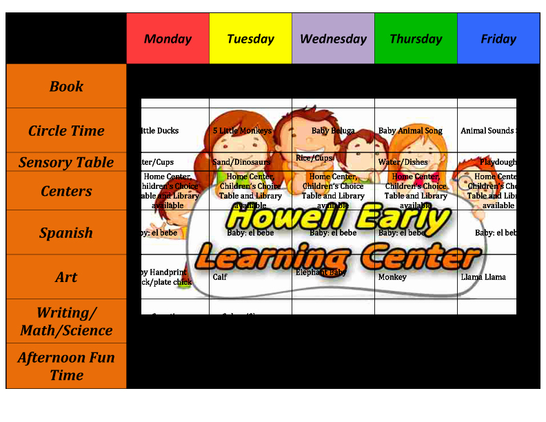 Lesson Plan for toddlers Awesome Howell Early Learning Center the Perfect Place to Learn