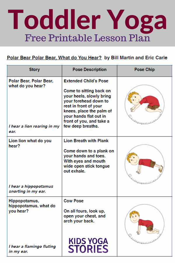 Lesson Plan for toddlers Elegant Polar Bear Polar Bear Yoga Lesson Plan