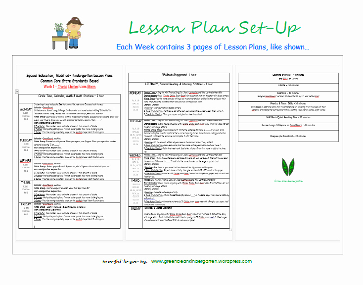 Lesson Plans for Kindergarten Fresh Special Education