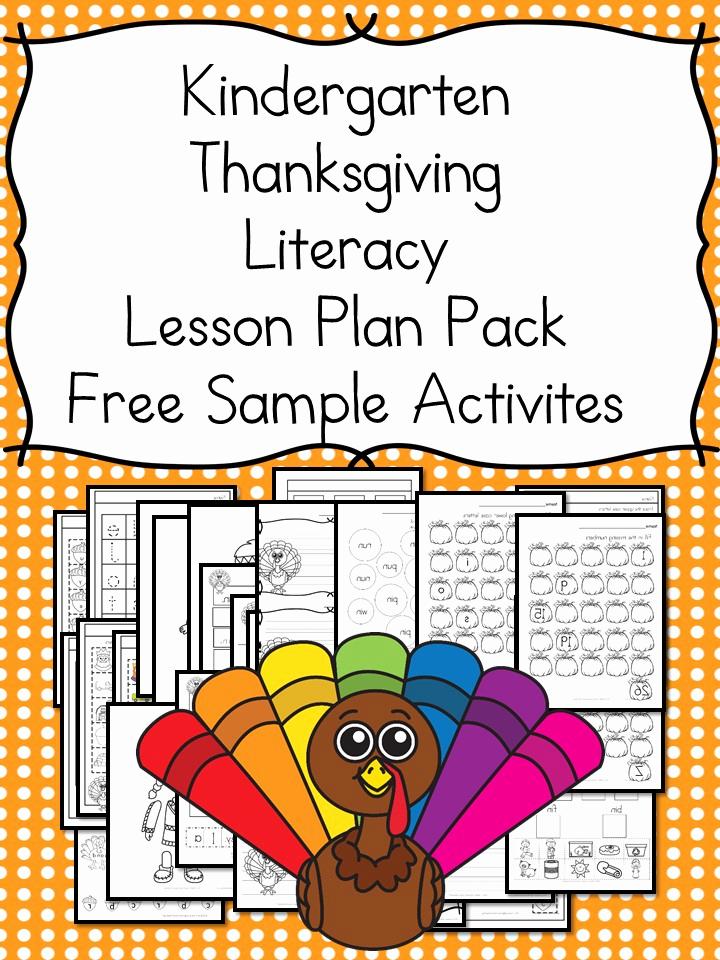 Lesson Plans for Kindergarten New Thanksgiving Lesson Plans for Kindergarten – Books