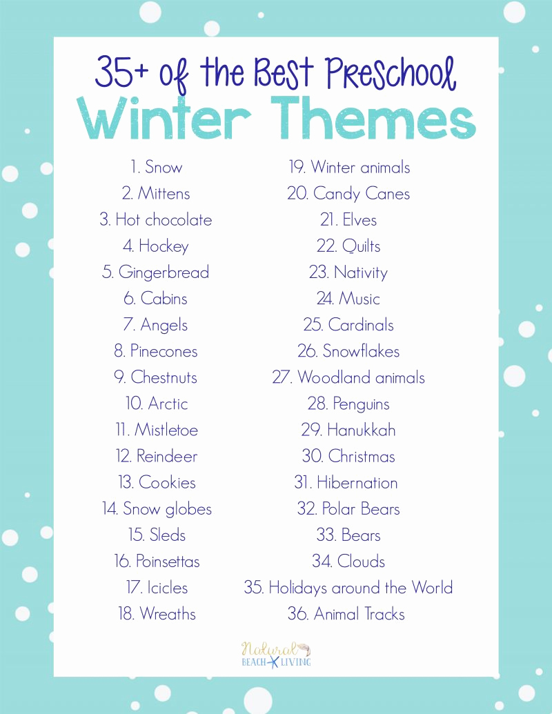 Lesson Plans for toddlers Beautiful 35 Winter Preschool themes and Lesson Plans Natural