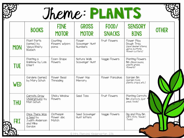 Lesson Plans for toddlers Beautiful tot School Plants tot School