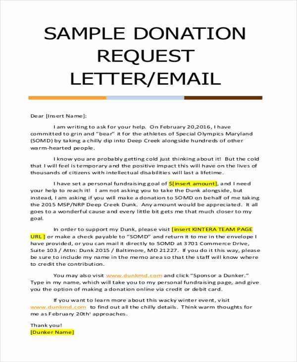 Letter asking for Donations Fresh Donation Letter Sample 9 Free Documents In Doc Pdf