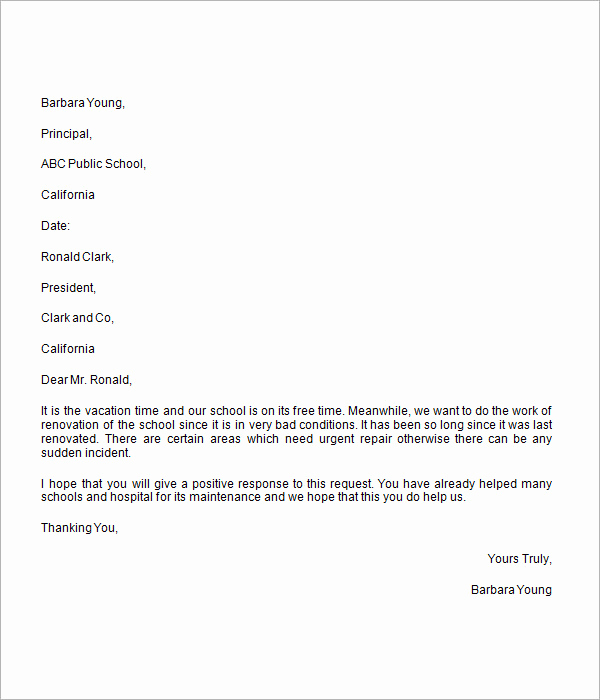 Letter asking for Donations Inspirational Donation Request Letter 8 Free Download for Word
