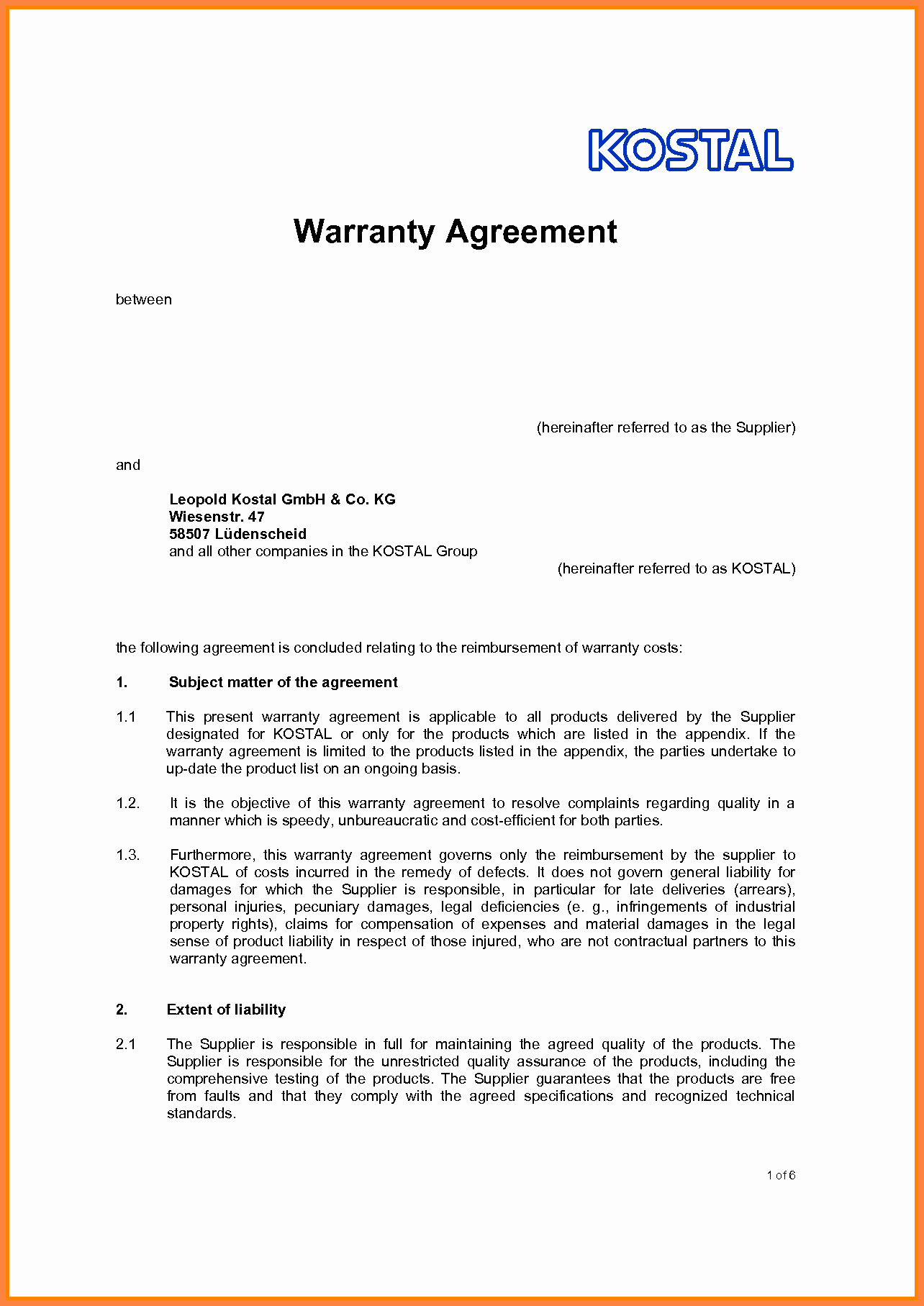 Letter Of Agreement Template Awesome 10 Letter Of Agreement Template Between Two Parties