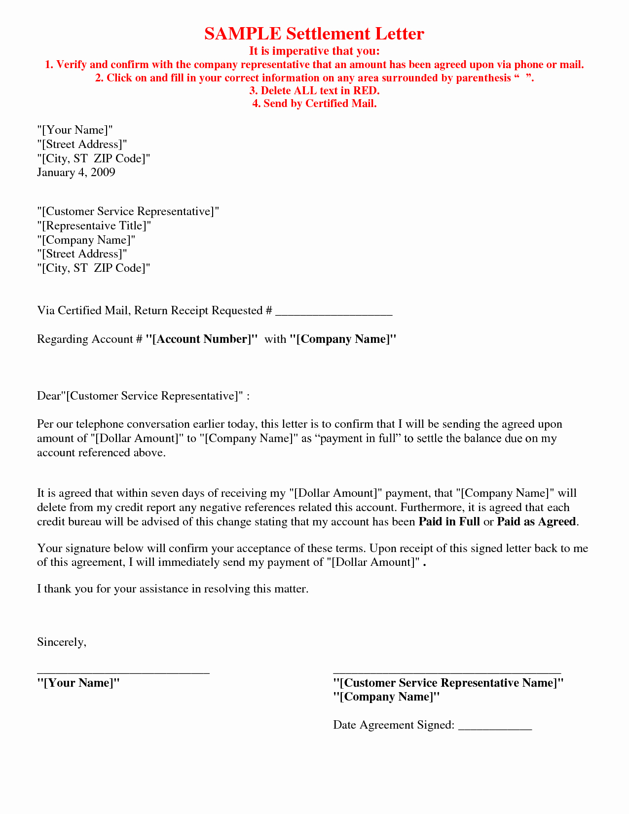Letter Of Agreement Template New Picture 5 Of 17 Debt Settlement Agreement Letter