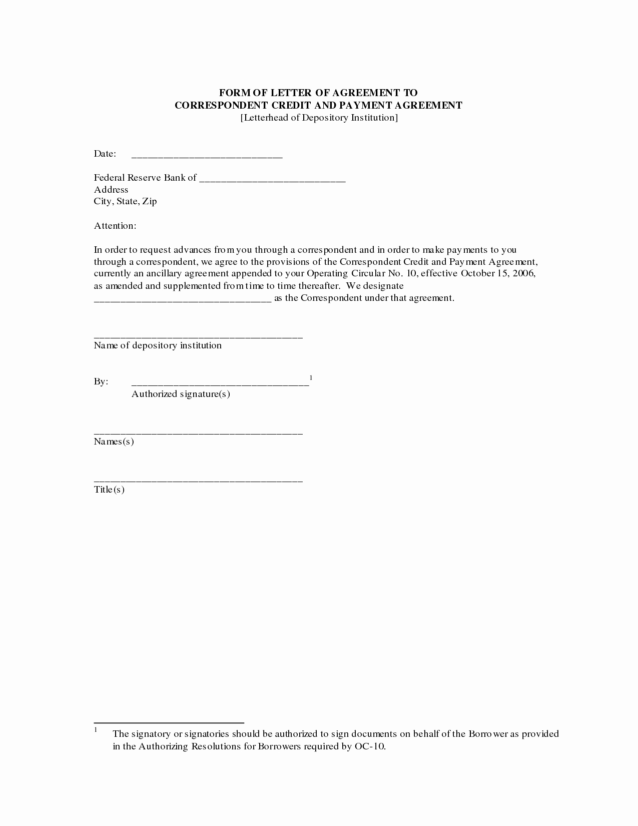 Letter Of Agreement Template Unique Payment Agreement Letter Sample Contract Template form