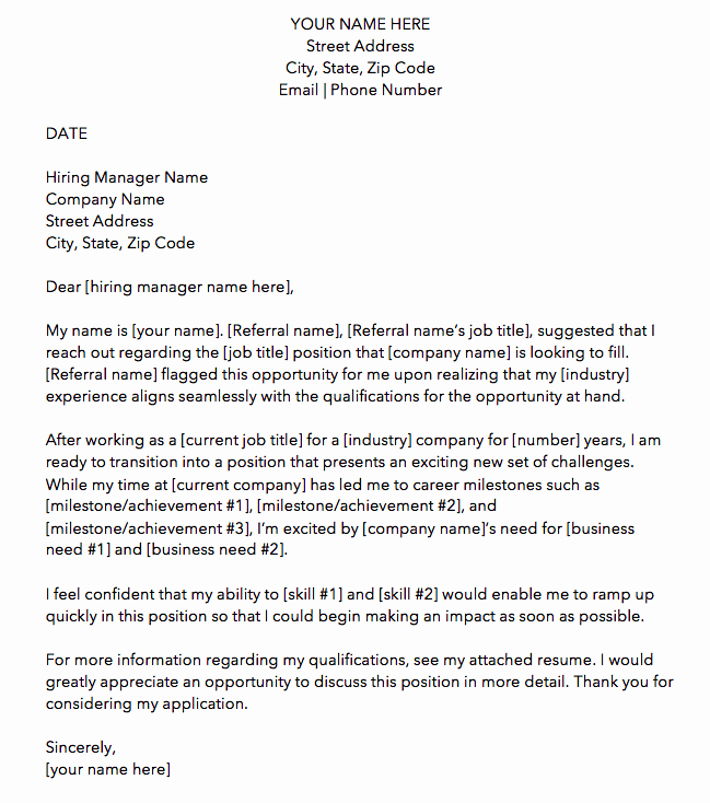 Letter Of Application Template Awesome 10 Cover Letter Templates to Perfect Your Next Job Application