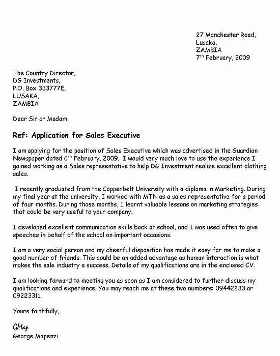 Letter Of Applications Examples Lovely Download Free Application Letters