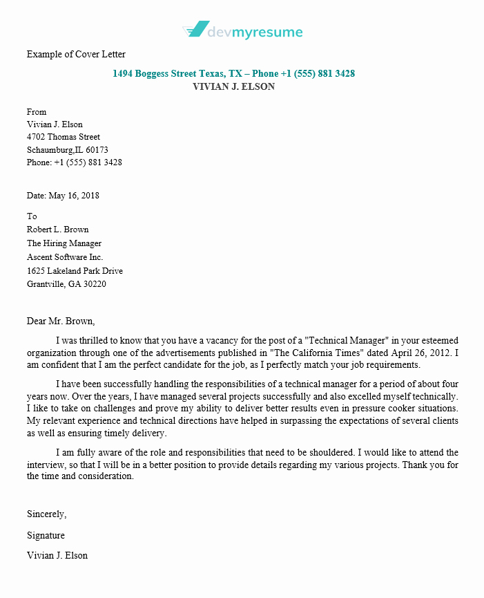 Letter Of Applications Examples Unique Cover Letter Writing Service Of High Quality