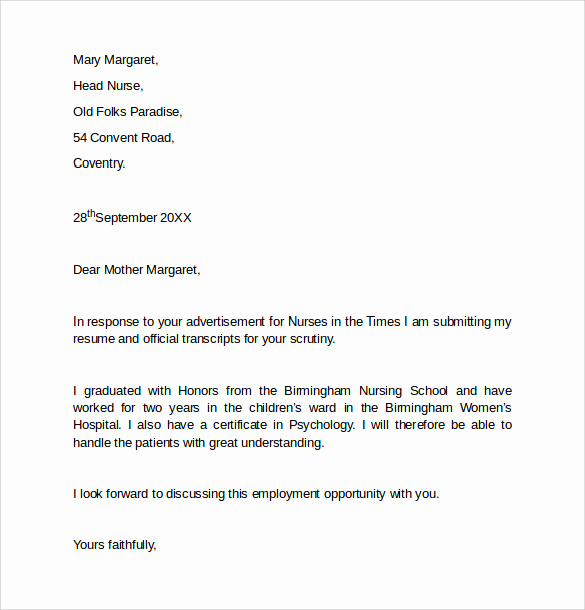 Letter Of Employment Templates Inspirational 8 Employment Cover Letter Templates to Download