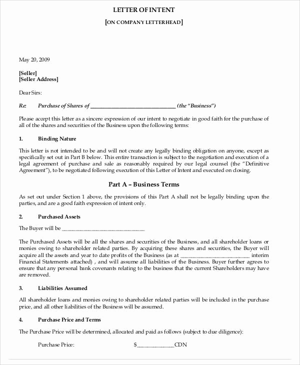 Letter Of Intent for Business Luxury 37 Sample Business Letters In Pdf