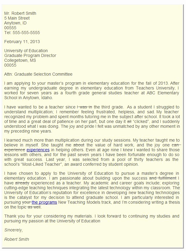 Letter Of Intent for Colleges Best Of Graduate School Admissions Letter Of Intent
