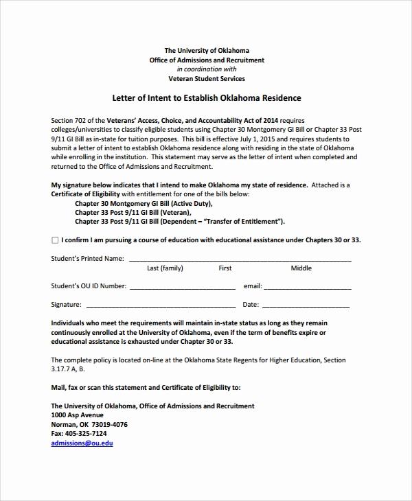 Letter Of Intent for Colleges Fresh 10 Sample Letter Of Intent for University Pdf Doc