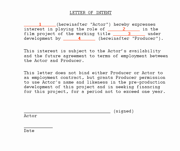 Letter Of Intent to Hire Lovely Letter Intent to Purchase Vehicle Template 1000