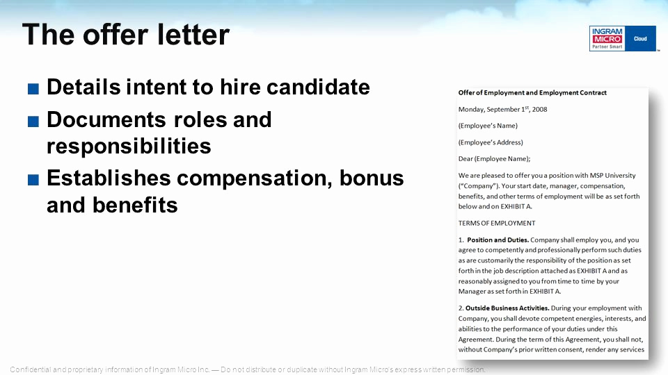 Letter Of Intent to Hire Luxury Building Your Cloud Sales Culture and Pensation Plan