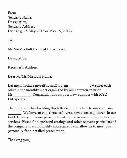 Letter Of Introduction Example Awesome 40 Letter Of Introduction Templates & Examples