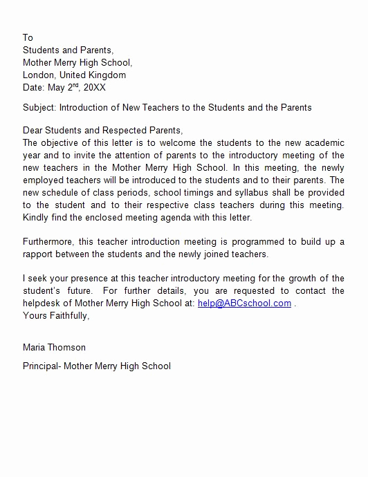 Letter Of Introduction Example Inspirational 40 Letter Of Introduction Templates & Examples