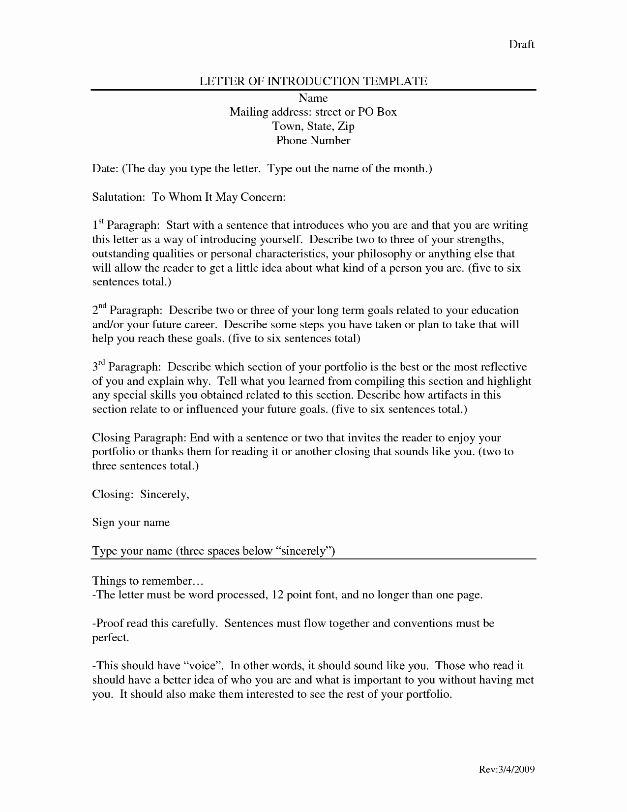 Letter Of Introduction for Employment Elegant Letter Introduction Template Dancingmermaid Yfzce92i