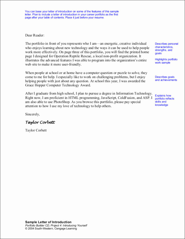 Letter Of Introduction for Employment Inspirational How to Write An Introduction Letter for A Job