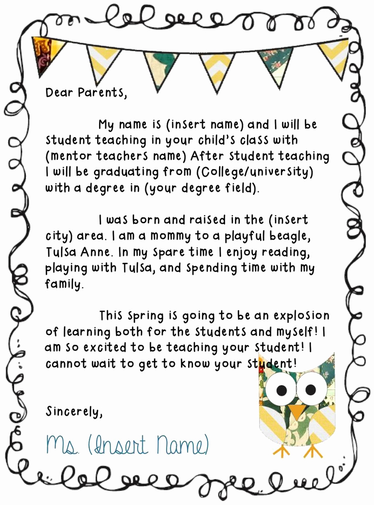 Letter Of Introduction for Yourself Lovely 25 Best Ideas About Teacher Introduction Letter On