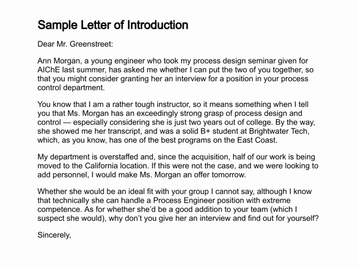 Letter Of Introduction for Yourself Lovely Sample Letter Of Introduction Basic Cover Letter