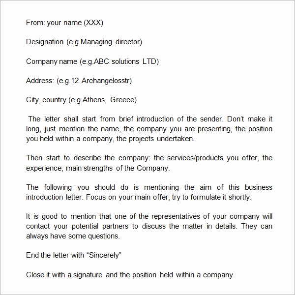 Letter Of Introduction for Yourself New 21 Sample Business Introduction Letters Pdf Do9