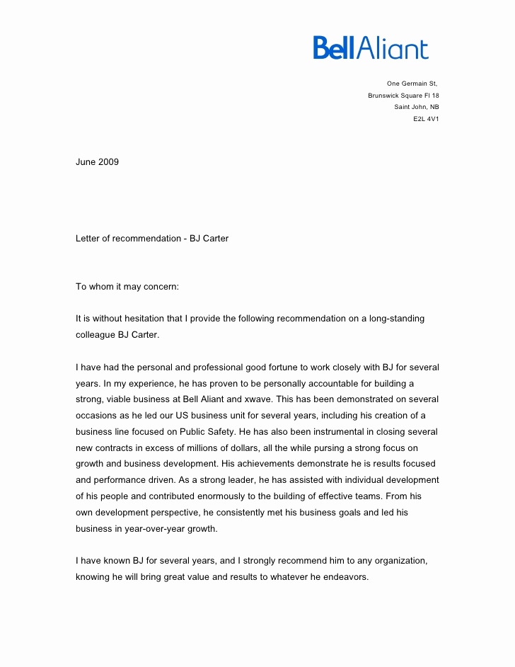 Letter Of Recommendation for Colleague Lovely Letter From Colleague Helena