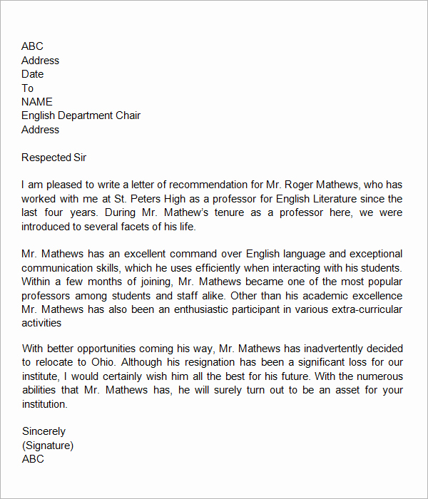 Letter Of Recommendation for Colleague New How to Write A Reference Letter for A Colleague Any