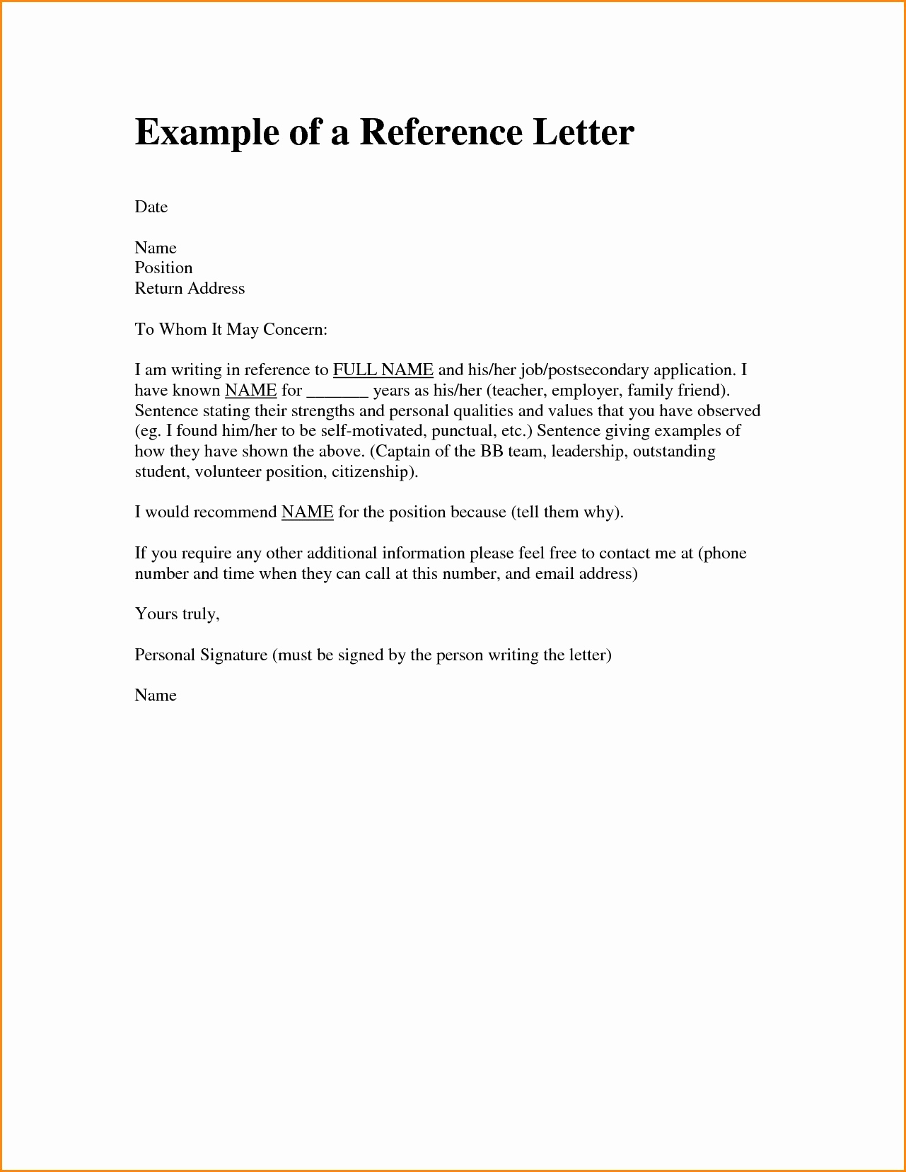 Letter Of Recommendation for Immigration Luxury Immigration Re Mendation Letter Template Collection