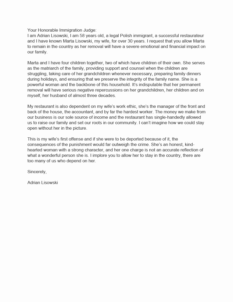 Letter Of Recommendation for Immigration New 36 Free Immigration Letters Character Reference Letters