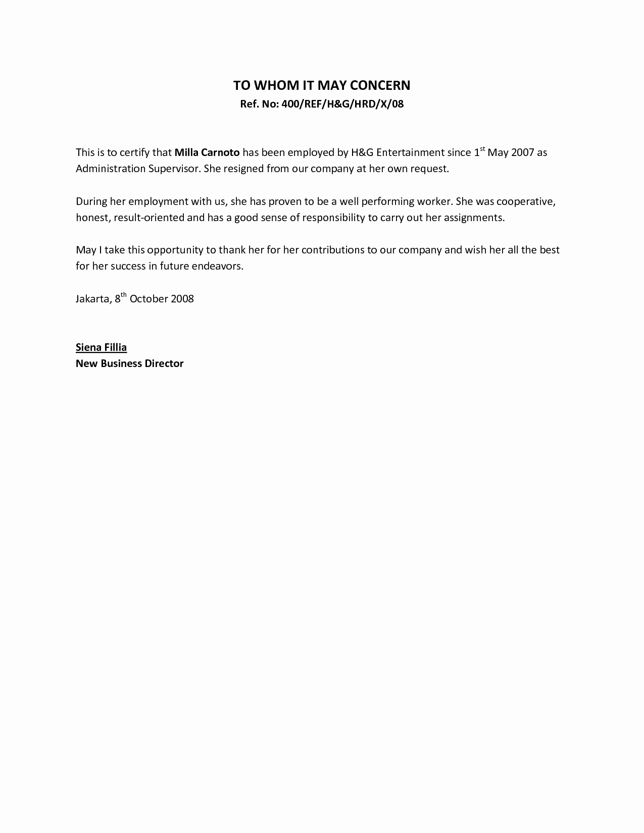 Letter Of Recommendation From Employer Beautiful Re Mendation Letter From Supervisor