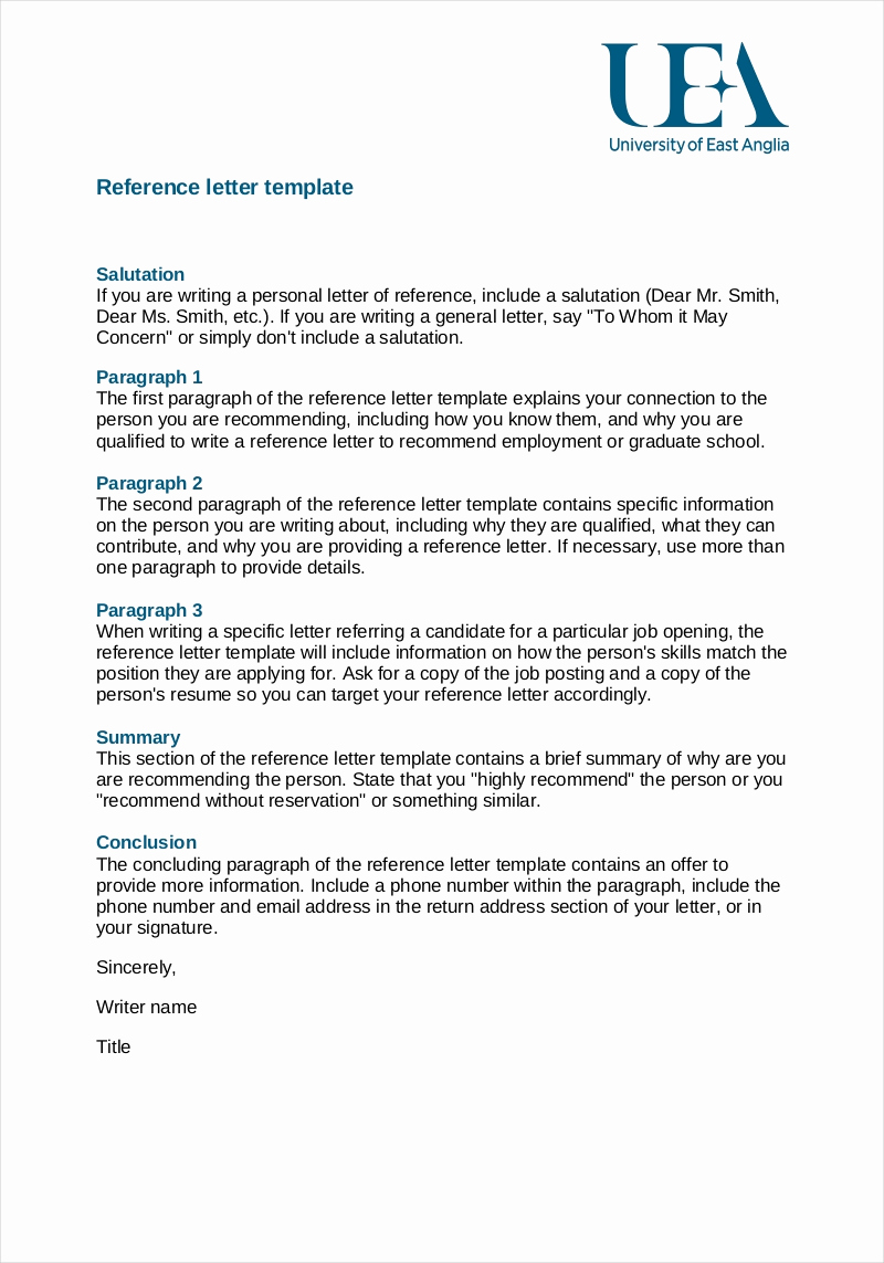 Letter Of Recommendation From Employer Fresh 9 Employee Reference Letter Examples & Samples In Pdf