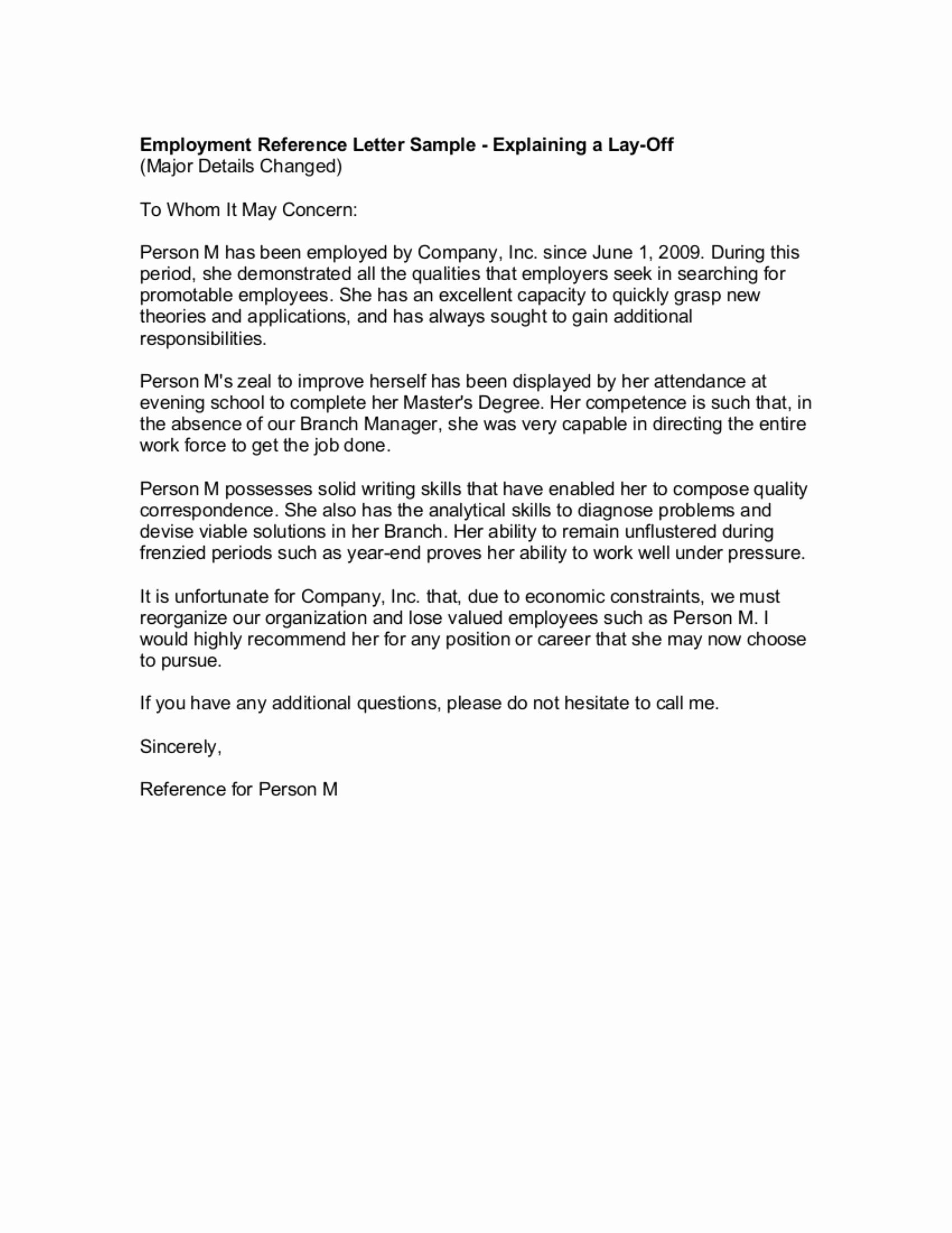 Letter Of Recommendation From Employer Luxury 9 Reference Letter From A Previous Employer Examples