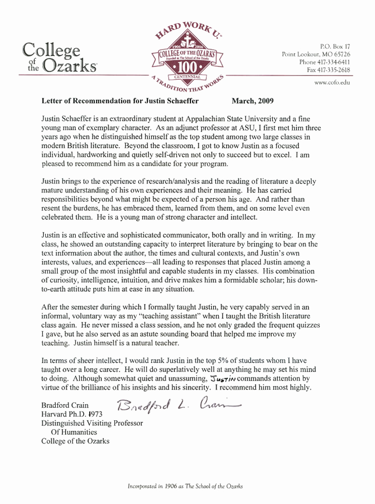 Letter Of Recommendation From Professor Best Of Re Mendation Letter for Phd Graduate