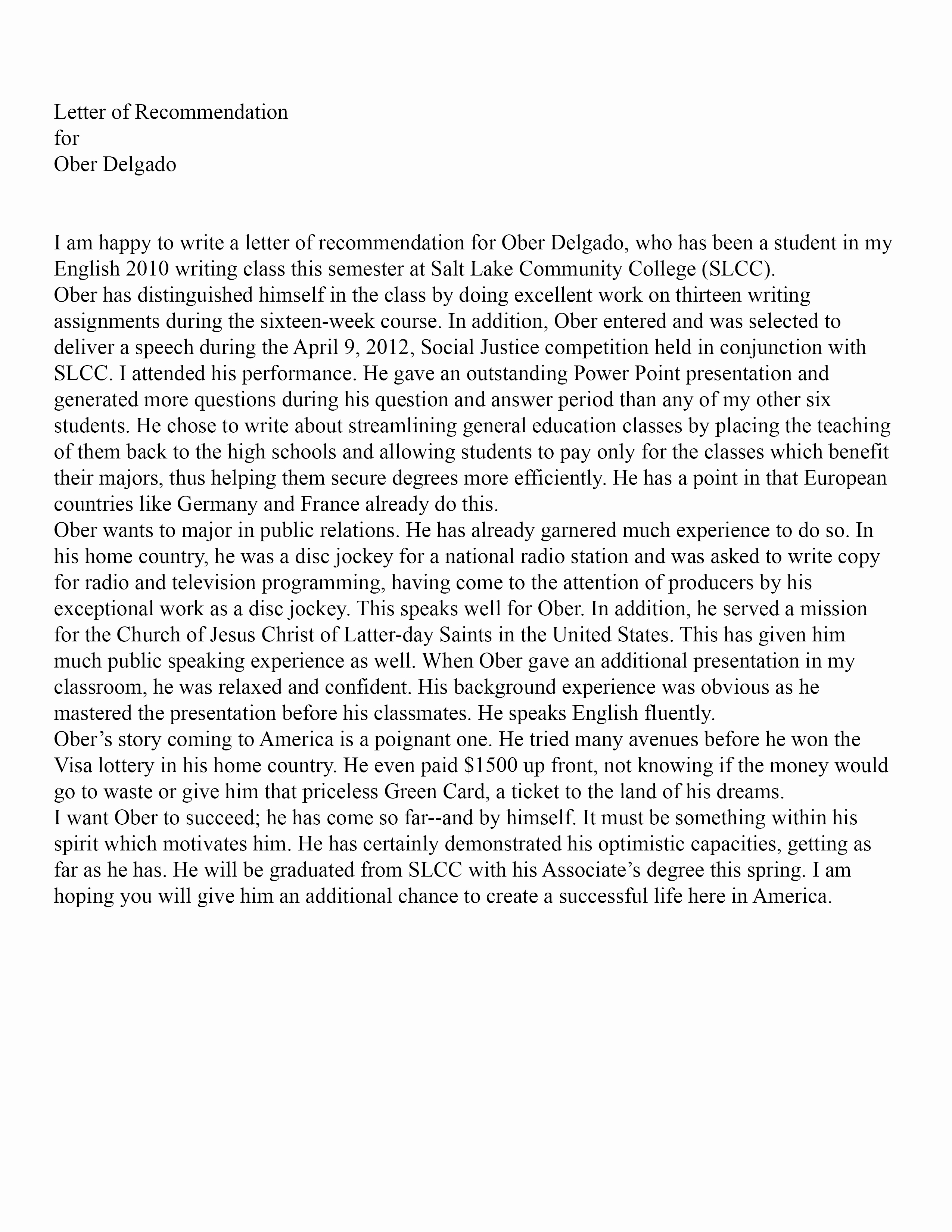 Letter Of Recommendation From Professor Elegant 301 Moved Permanently