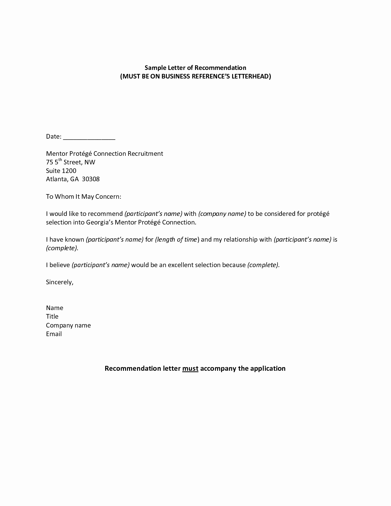 Letter Of Reference Example Beautiful Professional Reference Sample Re Mendation Letter Jos