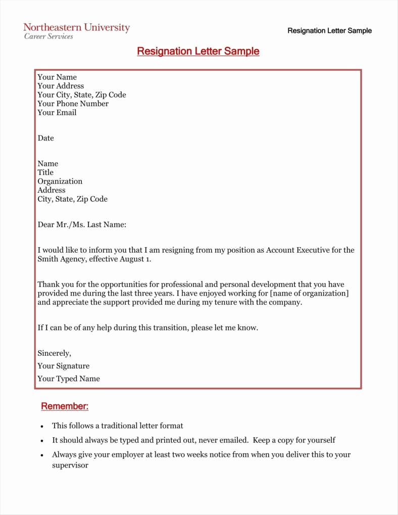Letter Of Resignation Template Free Best Of 33 Simple Resign Letter Templates Free Word Pdf Excel