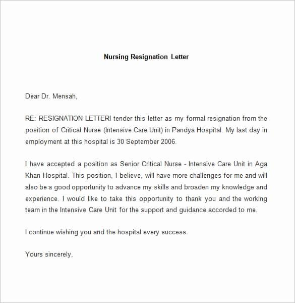 Letter Of Resignation Template Free Elegant Download Free Resignation Letter Samples Nix